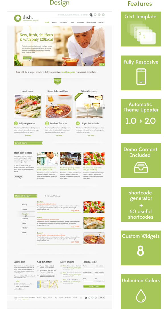 Dish Restaurant Multipurpose WordPress Theme